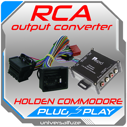 RCA Output converter (Hi-Low) for Holden Commodore