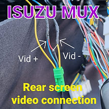 Isuzu MUX rear screen connection pinout wiring diagram