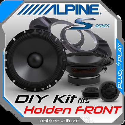 "ALPINE 6.5"" S Type Front Speaker kit for Holden Commodore"