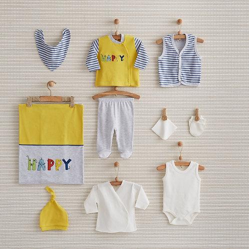 HAPPY NEWBORN BABY 10 IN 1 GIFT SET