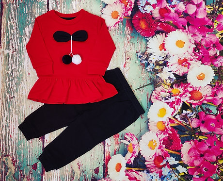 FULL SLEEVES TEE WITH JOGGER SET – RED