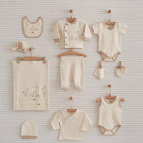 FOREST NEWBORN BABY 10 IN 1 ORGANIC COTTON GIFT SET