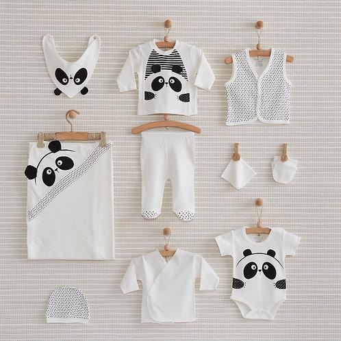 PANDA NEWBORN BABY 10 IN 1 GIFT SET