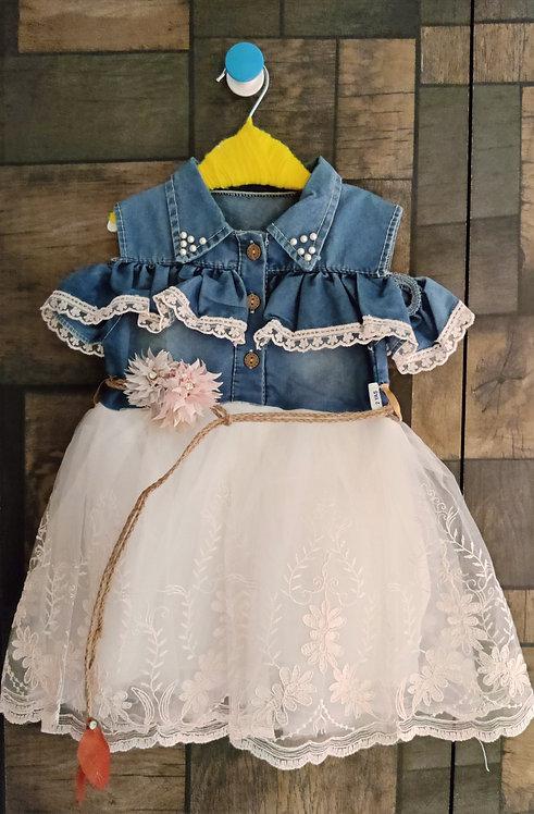 BABY GIRL COLD SHOULDER DRESS