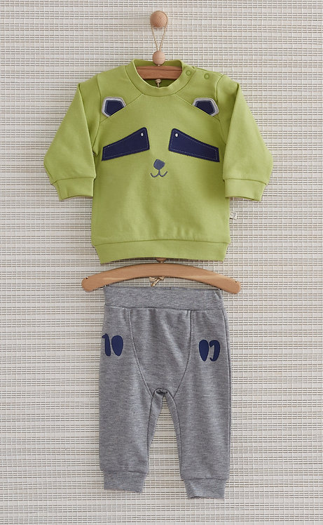 RACOON BABY FULL SLEEVES ROUND NECK TEE WITH PAJAMA