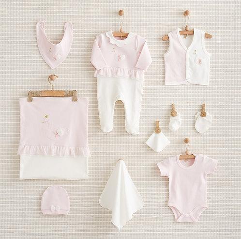 CHIC SWAN NEWBORN BABY GIRL 10 IN 1 GIFT SET
