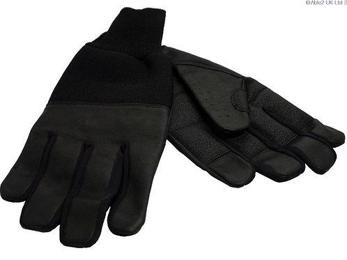 Revara Sports Leather Winter Glove Black - medium