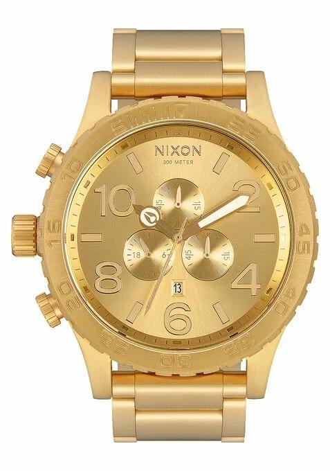 NIXON 51-30 Chrono Watch All Gold