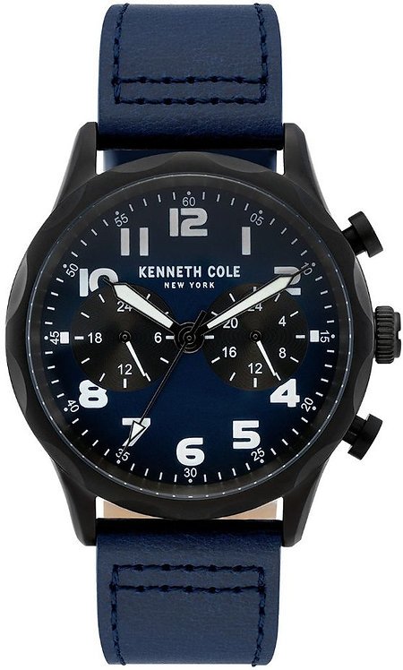 Kenneth Cole New York Dress Sport Black Tone Black leather Watch KC51026022