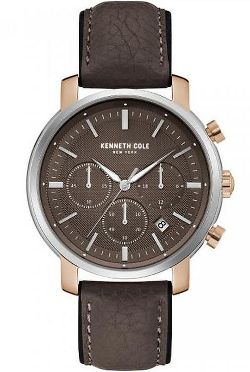 Kenneth Cole CHR Dress Sport Leather Band Watch KC50775003