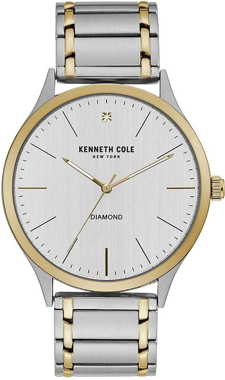 Kenneth Cole New York Two tone Gold Tone Diamond Dial Watch KC51048004