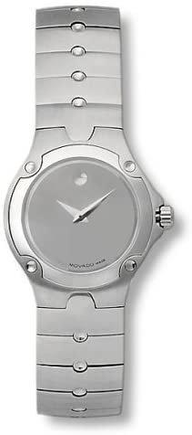 Movado Ladies Silver Tone Dial Stainless Steel Bracelet Watch 0604481