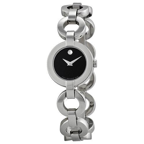 MOVADO Ladies Bela Moda Stainless Steel Bracelet Watch