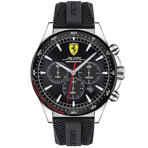 Scuderia Ferrari Pilota Black Men's Watch (0830620)