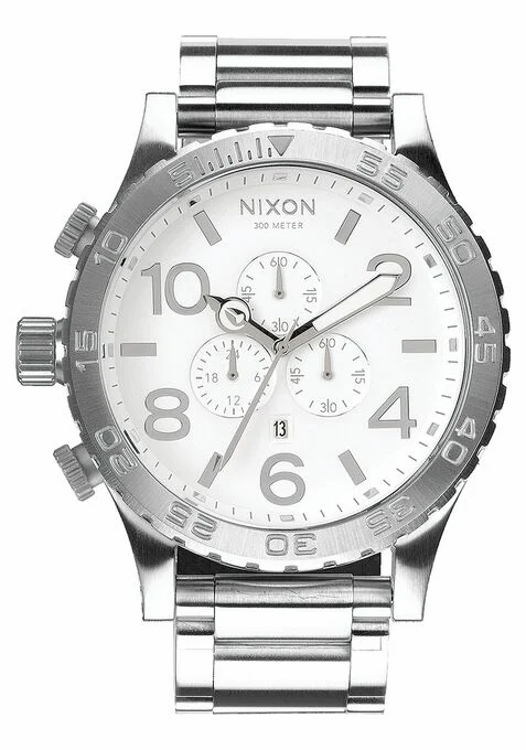 NIXON 51-30 Chrono Watch High Polish / White