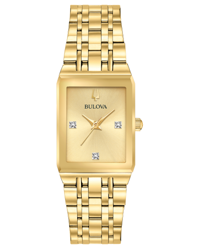 BULOVA Quadra Gold Dial Diamond