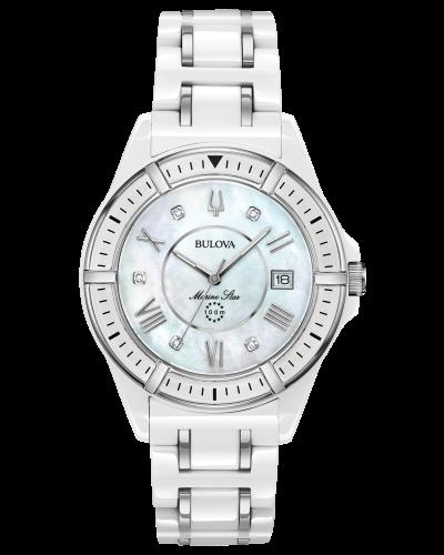 Bulova Women's Marine Star Diamond Ceramic Watch