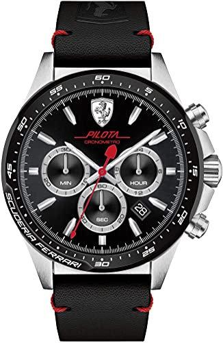 FERRARI Men's Scuderia Ferrari Pilota Chronograph Black Dial Watch