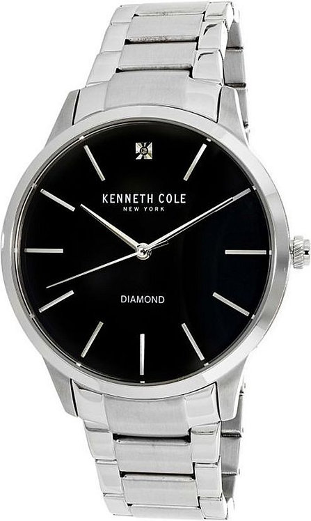 Kenneth Cole Stone Accent Stainless Steel Link 43mm Watch KC15111005