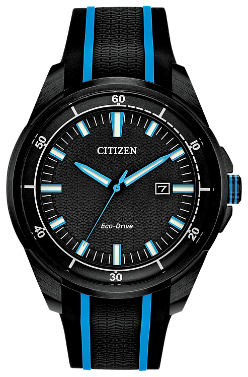 Citizen AR Men's Eco-Drive Black Stainless Steel Watch