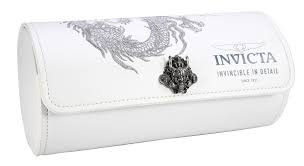 INVICTA WATCH 3-SLOT DRAGON WATCH ROLL, WHITE (33920)