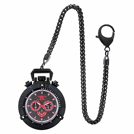 Invicta Men's 56mm Subaqua Noma III Quartz Chronograph Pocket Watch w/ Chain
