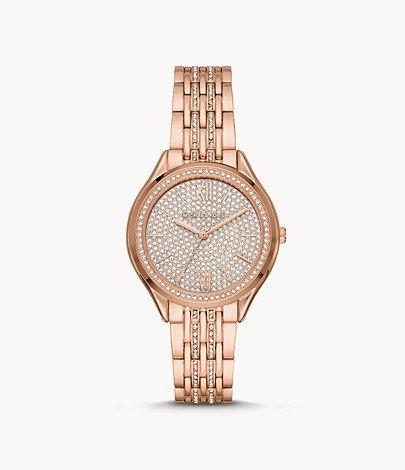 MK Women's Mindy Three-Hand Rose Gold-Tone Stainless Steel Watch