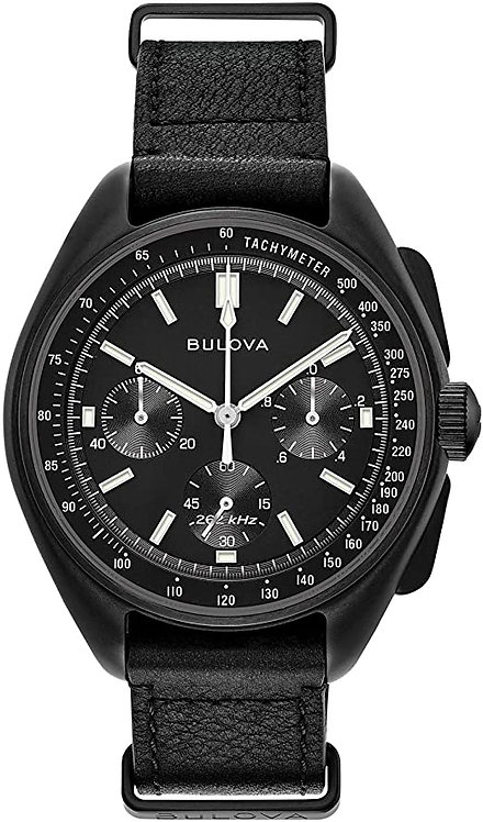 BULOVA Special Edition Lunar Pilot Chronograph Black Dial Men's Watch 98A186