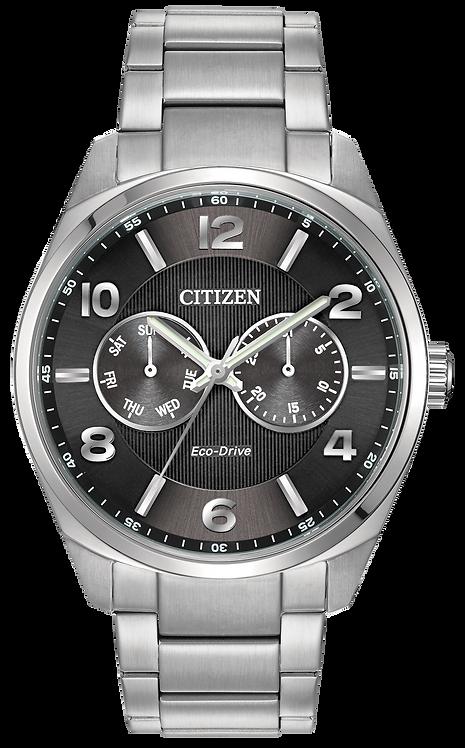 Citizen Corso Men's Eco-Drive Silver Black Dial Watch