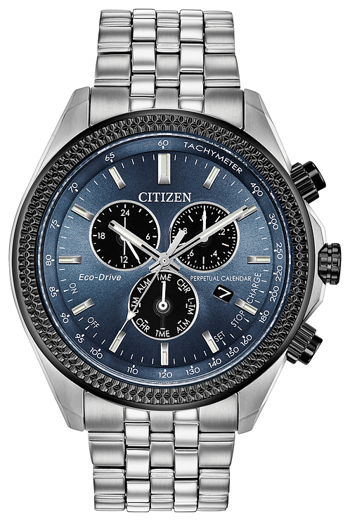 Citizen Brycen Eco-Drive Blue Dial Stainless Steel Watch