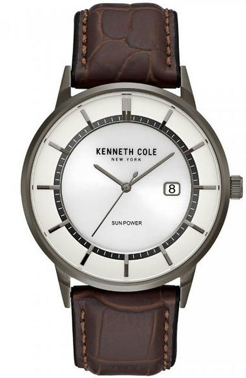 Kenneth Cole Solar Leather Band Watch KC50784001