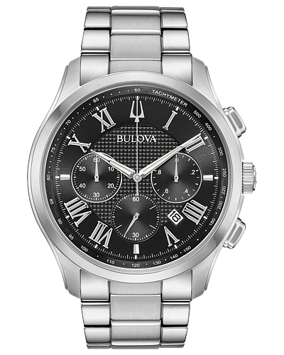 Bulova Men's Classic Wilton Stainless Steel Chronograph Watch