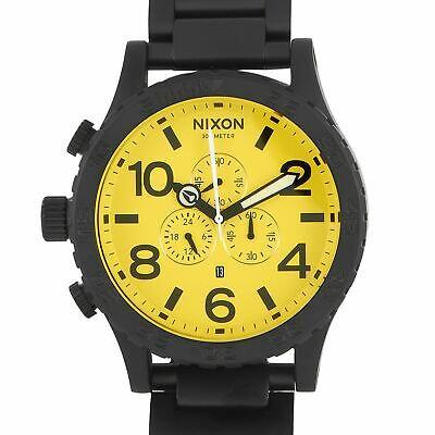 Nixon 51-30 Chrono All Black/Yellow Watch A083-3132-00