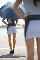 On track Grid Girl Clipsal