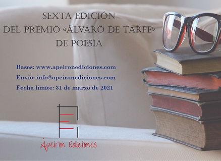 Cartel Sexta edición Premio Álvaro de Ta