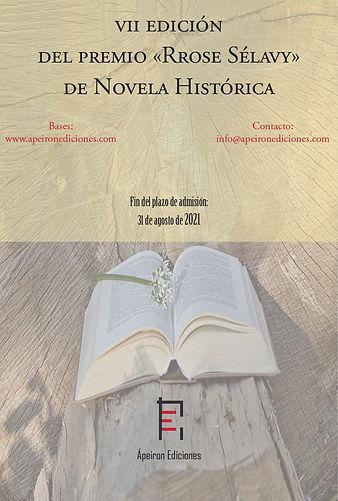 Cartel de certamen novela histórica (Ápe
