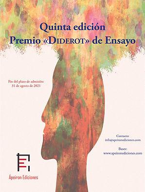 Cartel Quinta Edición Premio Diderot de
