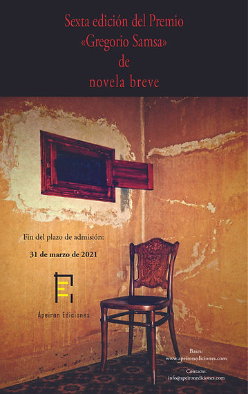 Sexta edición Premio Gregorio Samsa Nove