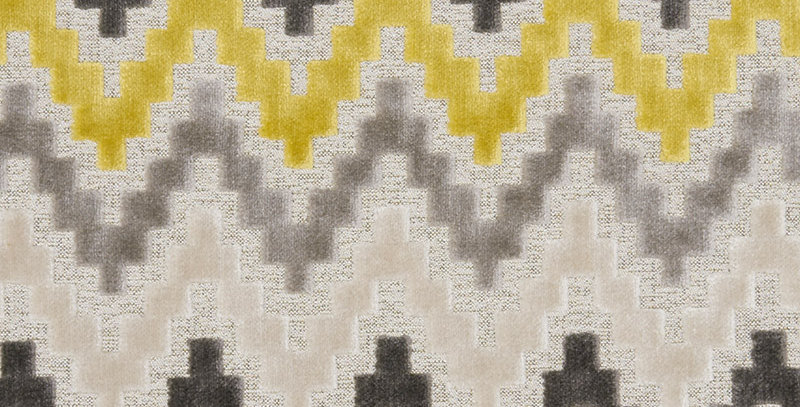 אמפייר צהוב ליקר - אריג קטיפה