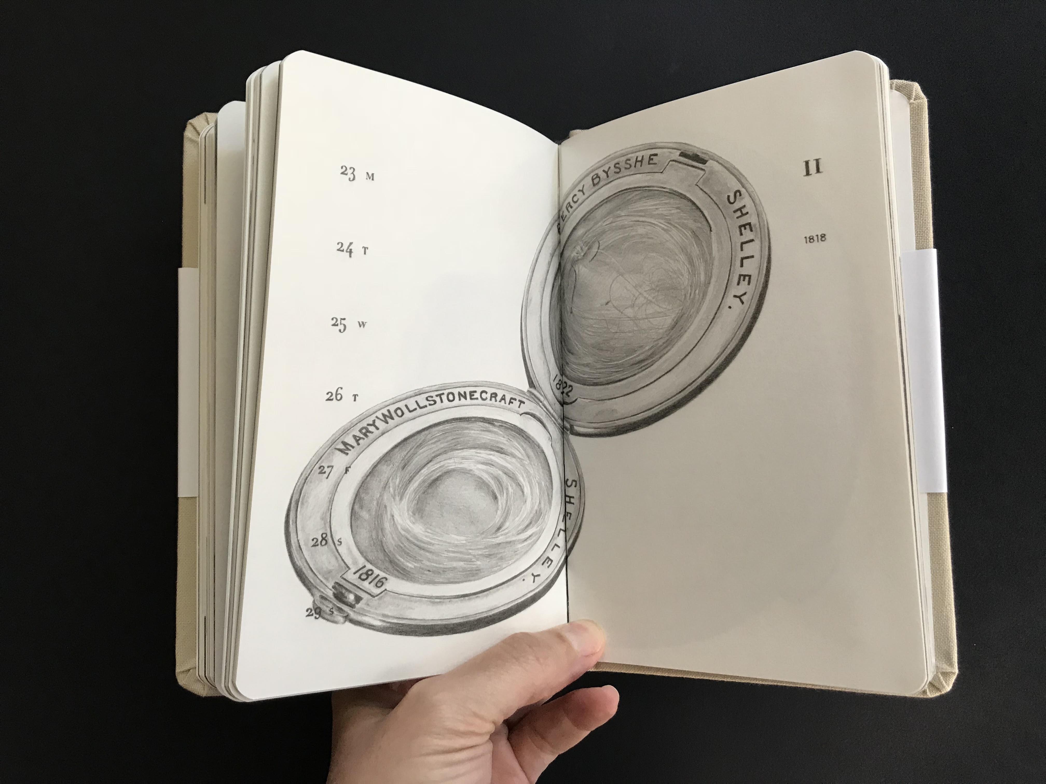 מאיה אטון, 2018 ספר אמן ויומן שבועי, 17X11 סמ (3)