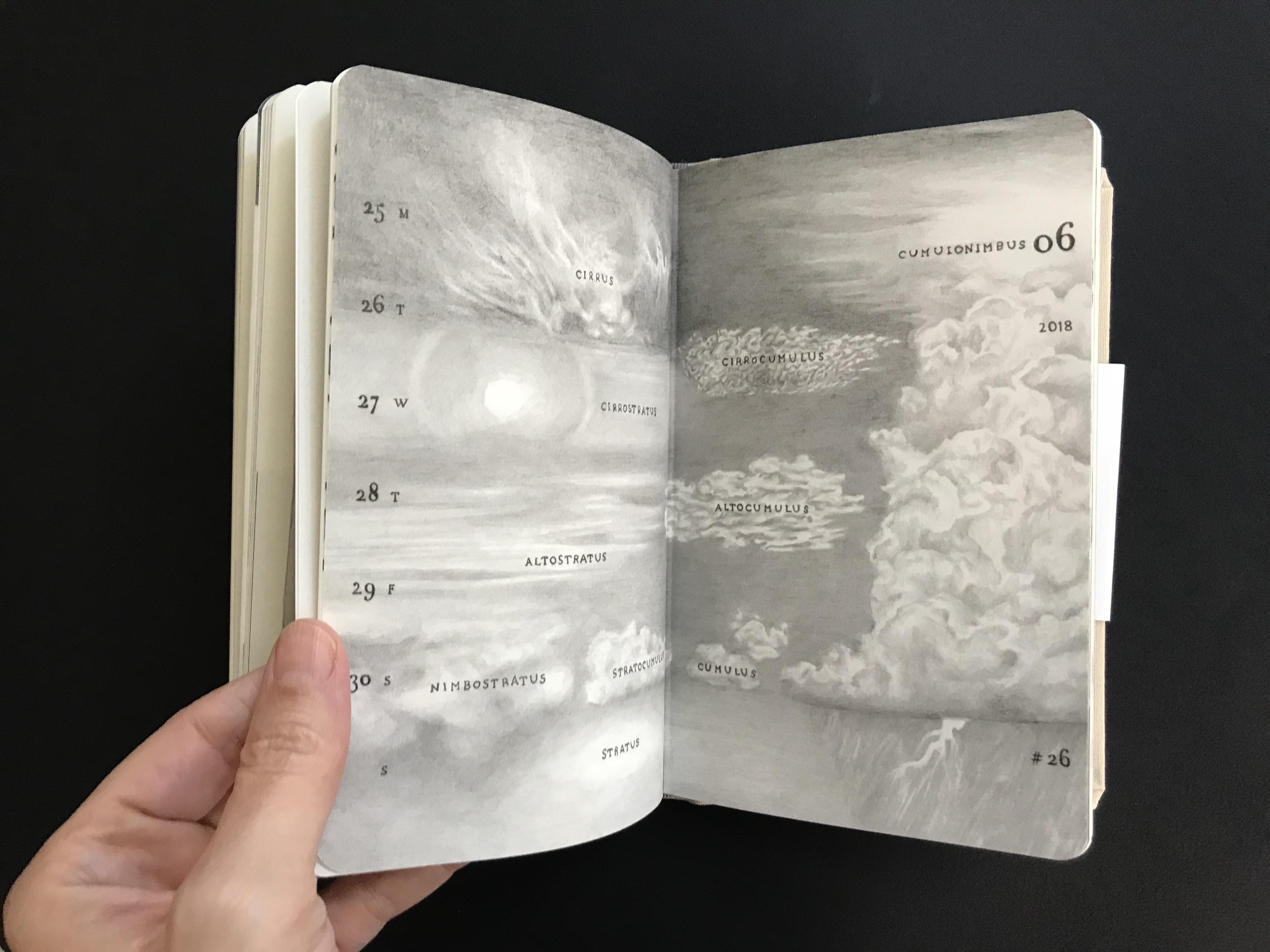 מאיה אטון, 2018 ספר אמן ויומן שבועי, 17X11 סמ (1)