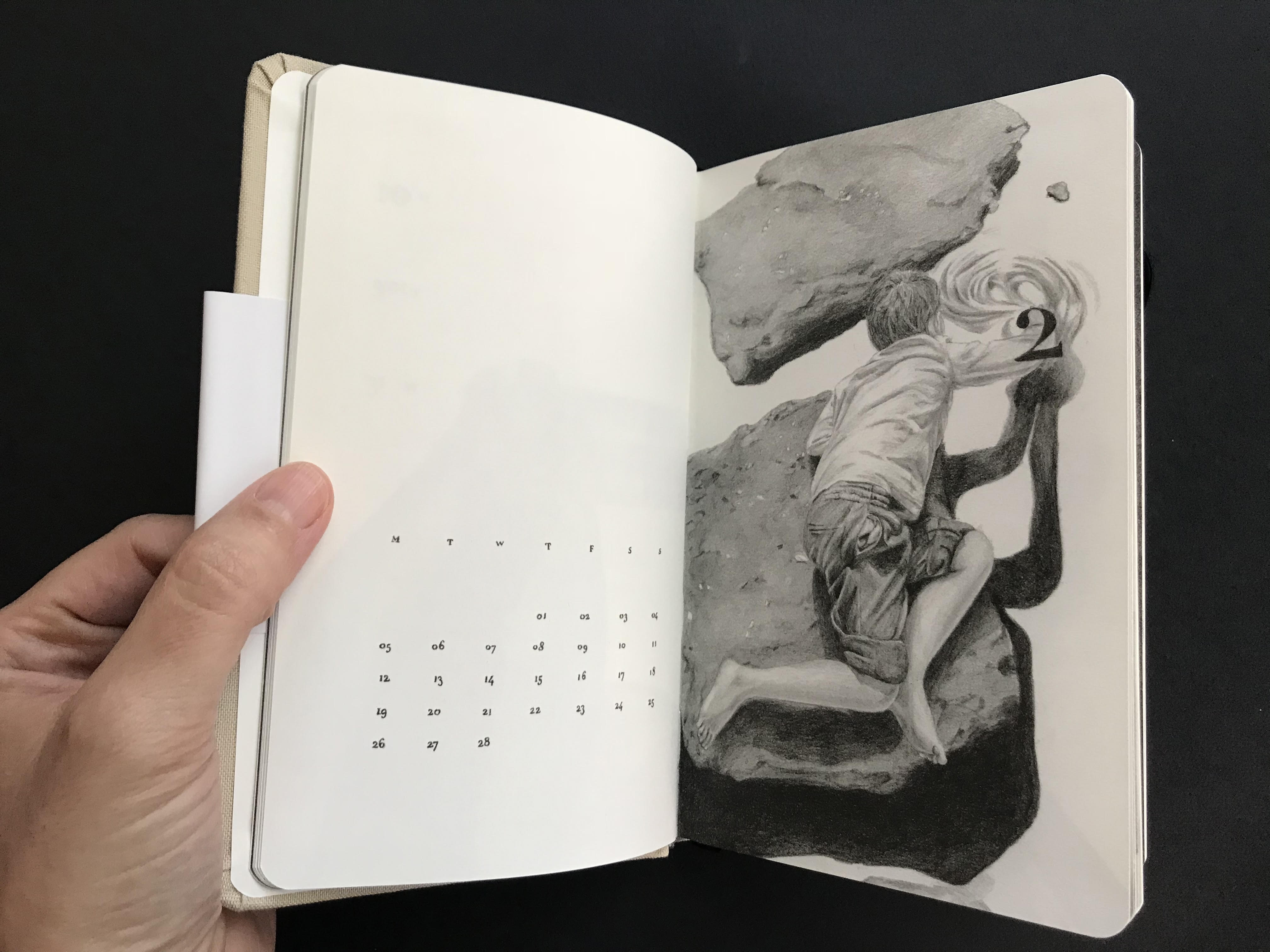 מאיה אטון, 2018 ספר אמן ויומן שבועי, 17X11 סמ (5)