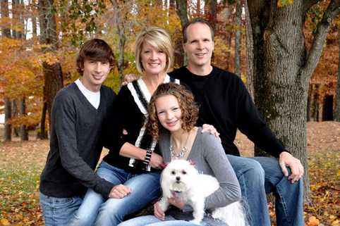 BRADEMEYER FAMILY PHOTO SHOOT, FALL LEAVES, SWEET PUPPIE!