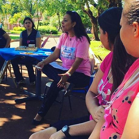 Roda de conversa - ao ar livre- sobre violência doméstica