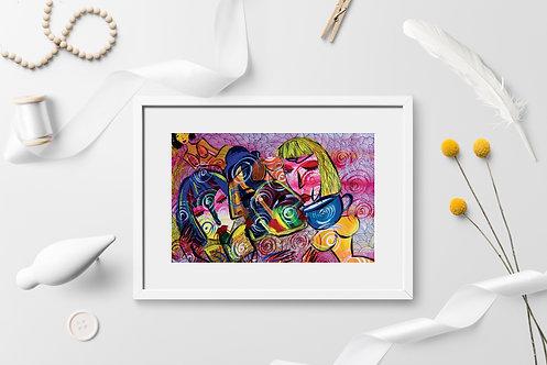 Lovers: Acrylic Original Artwork