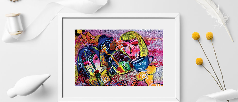 Lovers : Giclée Fine Art Print or Gallery Wrap