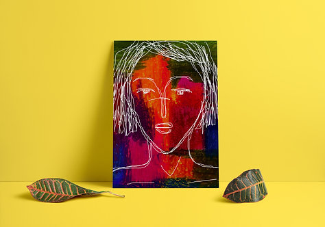 Colored Thoughts : Giclée Fine Art Print or Gallery Wrap