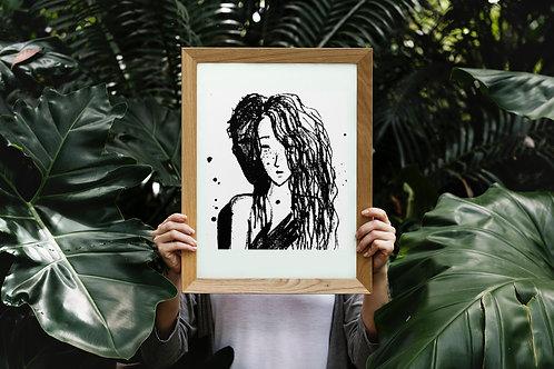 Lovers : Giclée Fine Art Print or Gallery Wrap