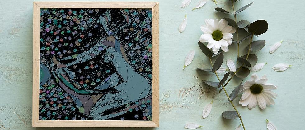 Two Women in Love : Giclée Fine Art Print or Gallery Wrap