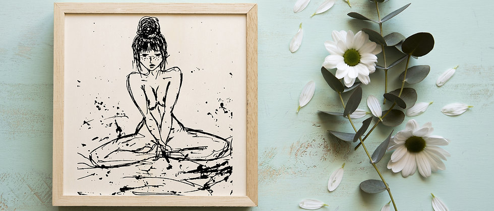 Shyly : Giclée Fine Art Print or Gallery Wrap